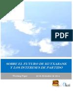 SOBRE EL FUTURO DE KUTXABANK Y LOS INTERESES DE PARTIDO