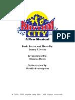 Rhythm City Libretto & Vocal Book