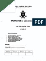 Extension 2, 4 Unit_2011_Sydney Technical High School HSC Trial Paper