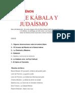 GUENON RENE - Sobre Kabala Y Judaismo