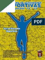 PDM Programa Actividades 2014 15