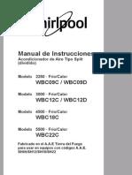 Manual de Instrucciones Acondicionador de Aire Tipo Split (dividido)