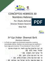 Conceptos Hebreos 30 Nombres en Kabala