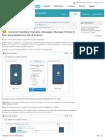 Comment transférer Contacts, Messages, Musique, Photos et Plus entre téléphones iOS et Android