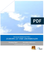 European Industrial Policy. EUROPE AT THE CROSSROADS