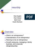 Entrepreneurship Grade 9 CHS