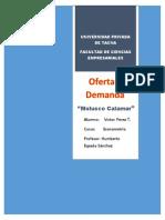 Molusco Calamar-Oferta y Demanda