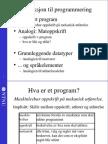 Introduksjon til programmering