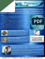 Afiche Curso Aquatic Therapy Chile