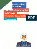Aberastury y Knobel - La Adolescencia Normal