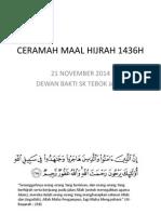 Ceramah Maal Hijrah 1436h