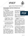 E-Brief Intoxication and the Criminal Law