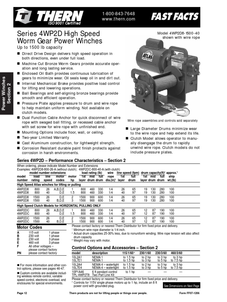 Atlas 4wp2d Portable Poatlas 4wp2d Portable Powerwinch