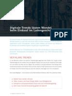 Digitale Trends läuten Wandel beim  Einkauf im Ladengeschäft ein