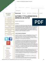 AUTORÍA Y TITULARIDAD EN EL DERECHO DE AUTOR.pdf