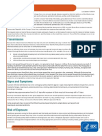 Ebola Factsheet from the cdc