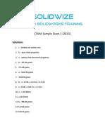 CSWA Practice 2013 - Solutions