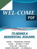 presentation on design a residential building by yogendra kumar