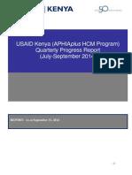 Huduma Poa Social Franchise Service Delivery Progress Report, Year 3_Quarter 4