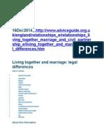 Cohabitation Contract Uk