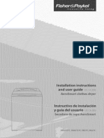 Fisher Paykel DE27C Dryer Users Manual
