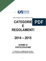 regolamenti categorie 2014 - 2015