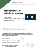 Termodinámica de soluciones acuosas