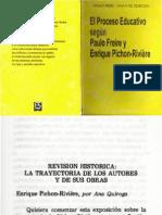 El procesoeducativo segun Paulo Freire y E Pichon Riviere