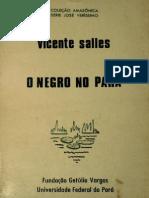 O Negro No Pará; por Vicente Salles