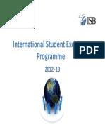 International Student Exchange Programme 2012-13