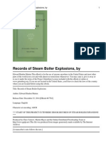 Records of Steam Boiler Expl