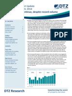 DTZ Europe logistics H1 2014