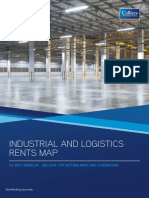 Colliers Industrial and logistics rents map 2014