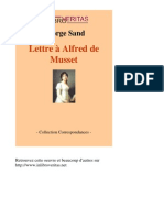1930-GEORGE SAND-Lettre a Alfred de net