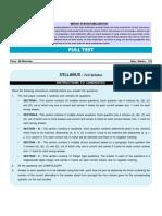 Class 10th PMT- IIT Foundation Mock Test