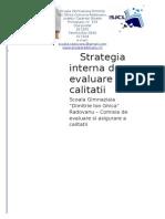 (370910015) Strategie Interna de Evaluare a Calitatii 2013-2016