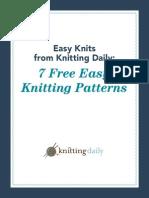 7 Easy Knitting Patterns