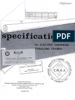 CMMA #70 Spec-Electric Overhead Traveling Cranes