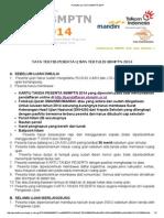 Pendaftaran Online SBMPTN 2014