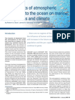 The impact of atmospheric deposition to the ocean on marine ecosystems and climate