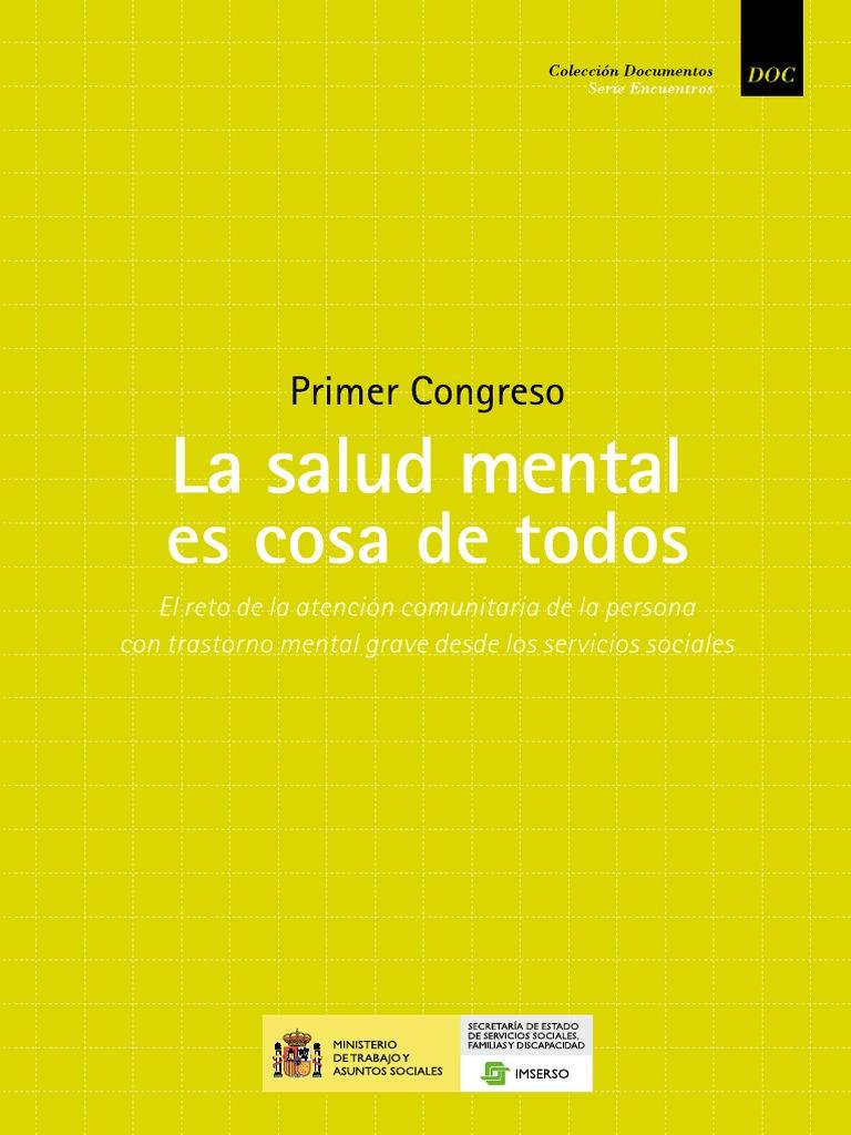 Primer Congreso La salud mental es cosa de todos El reto de la ...