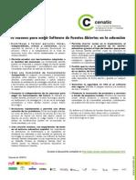 CENATIC 10 Razones Para Elegir Software de Fuentes Abiertas