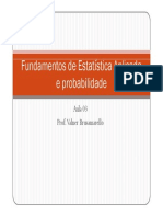 Probabilidade e Estatística Aplicada Na Engenharia