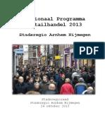 Stadsregio Arnhem Nijmegen Regionaal programma detailhandel 2013