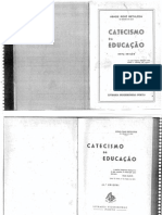 Catecismo Da Educacao - Abade René de Bethléem