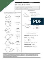 Keystone Formula Sheet-Geometry