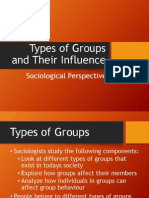 11 Soc - Types of Groups and Influence
