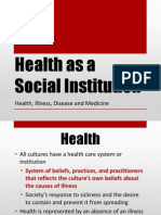 5 Health as a Social Institution