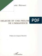 Deleuze Et Une Philosophie de l'Immnence