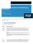 Cloud Security Guidance - Standards and Definitions